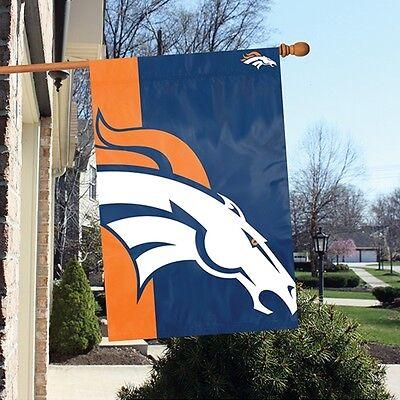 Denver Broncos 24 x 36 Bold Logo Banner Flag