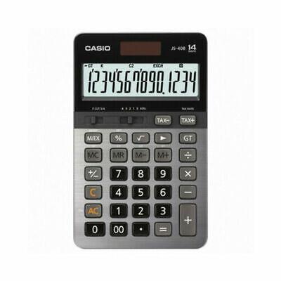Casio JS-40B 14-Digit Calculator GT Dual Power/Office Desktop Accounting (Black)