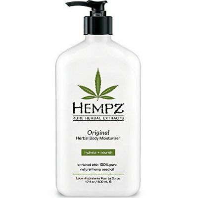 Hempz Herbal Original Moisturizer & After Tan Tanning Lotion 17oz New - Herbal Moisturizing Tanning Lotion