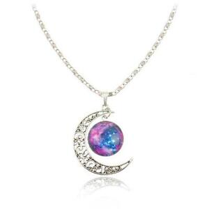 Moon necklace ebay crescent moon necklaces aloadofball Image collections
