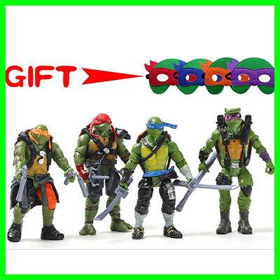 4 Pcs/Pack Ninja Turtles Figures Toys For Children Anime L-R-M-Donatello](Toys For Turtles)