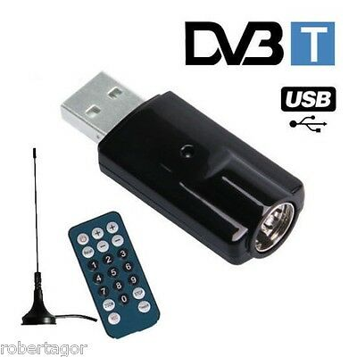 MINI DVB TV USB DIGITALE TERRESTRE REGISTRATORE PC DESKTOP NOTEBOOK COASSIALE
