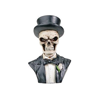 Groom Suited.Top Hat Skeleton Bust Figurine Figure Love Never Dies Statue 7239S
