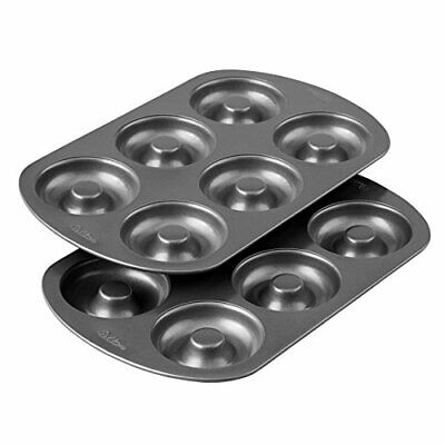 Wilton Non-Stick 6-Cavity Donut Baking Kitchen Cooking Tool Pans 2-Count