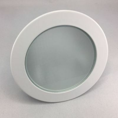 """p2 Frosted Glass 4"""" Shower Metal Trim for 4"""" Low Voltage Recessed Lens"""