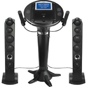 Singing Machine iSM1050BT Bluetooth Pedestal Karaoke System- NEW