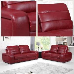 leather suite ebay