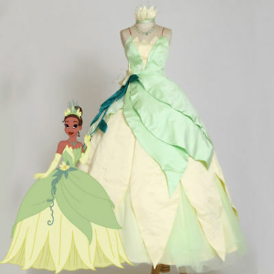 The Princess and the Frog Tiana Princess adult Female Fancy dress cosplay costum](Adult Princess Tiana Costume)