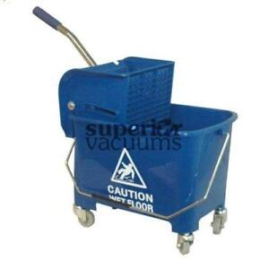 Janitorial Supplies Bucket, 21L With Side Press Wringer Blue