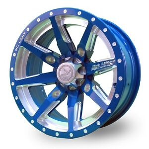 No Limit 14x6 4/156 Octane Positive Wheel in Voodoo Blue