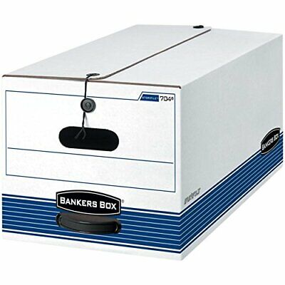 Bankers Box - File Box - Fastfold Stor/File 60 Recycled Storage Boxes, String - $44.05