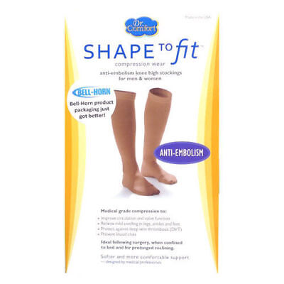 Anti Embolism Knee Stockings 18 mmHg Compression Closed Toe Supports - Ted Compression Stockings