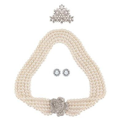 Utopiat flapper costume jewelry set-Audrey Hepburn Breakfast at Tiffany's Bridal - Tiffany Costume