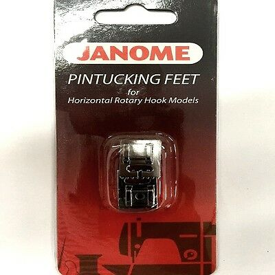 Janome 2 Pc. Pintucking Foot Set For Horizontal Rotary Hook Models #200317009