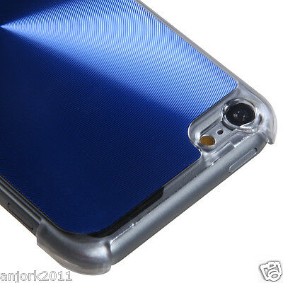 Apple iPod Touch 5 BRUSHED ALUMINUM CASE BACK COVER ACCESSORY BLUE