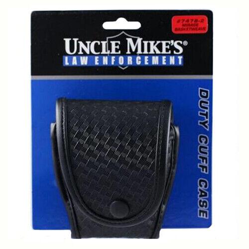Uncle Mike/'s 74782 Black Mirage Basketweave Standard Duty HandCuff Case Flap