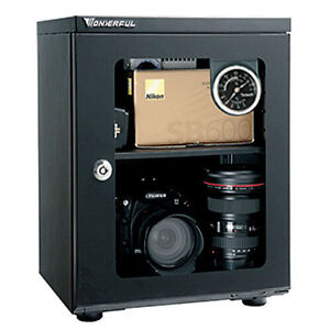 Wonderful AD-026C Glass Door Dry Cabinet Camera Lens Electronic Dehumidify 23L