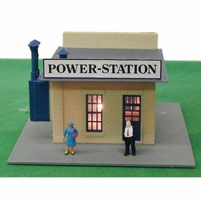 National Casket Model Power N #2594 Built-Up Building Lighted w//Two Figures