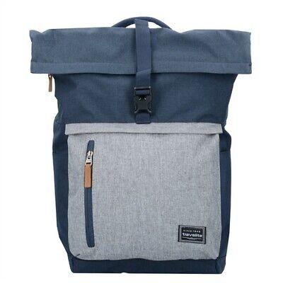 Travelite Basics Rollup Rucksack 47 cm Laptopfach marine/grau B-Ware #2976