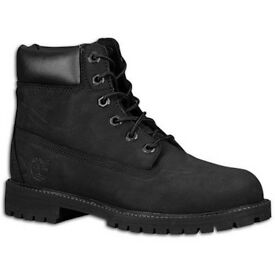 All black timberland boots size 3