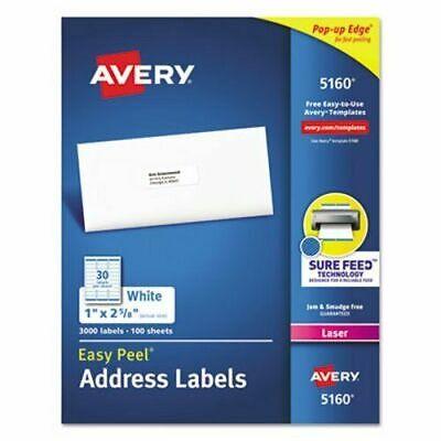Avery 5160 Easy Peel Address Labels 30 Labelssheet - Choose 6009001500 New
