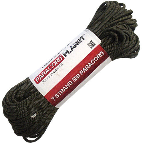 100 Feet 550 Paracord Mil Spec Type III 7 Strand Parachute Cord Olive Drab