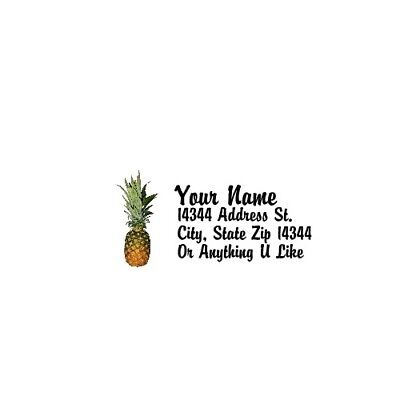 - Pineapple Design  Personalized Address Labels 30PCS-FREE US Shipping