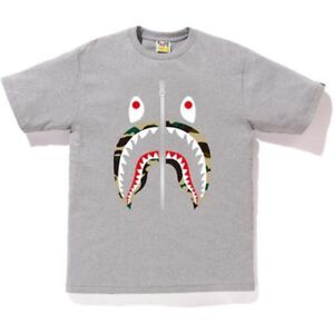 BRAND NEW BAPE SHARK GREY T-Shirt size L