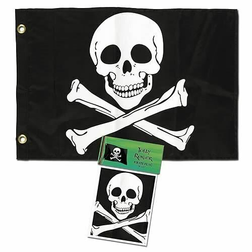 "Jolly Roger Pirate Flag 18"" x 12"""