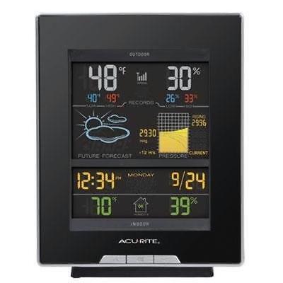 Acurite Color Weather Station - 330 Ft - Desktop, Wall Mount