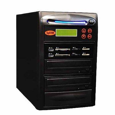 Systor 1:1 USB/SD/CF/MS Flash Memory Combo Card Duplicator - CD DVD Disc Copier