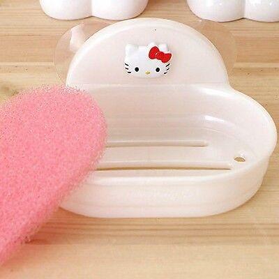 Hello Kitty Bath Soap Sponge Suction Dish Holder Rack Hanger Shelf Tray Organize