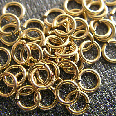 5 14K Solid Yellow Gold Jump Rings 3mm Jumpring Wire 24 gauge Top Quality 14KT