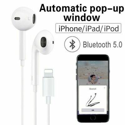 Apple iPhone 7 8 XR Lightning Headphones EarPhones Handsfree Bluetooth with mic