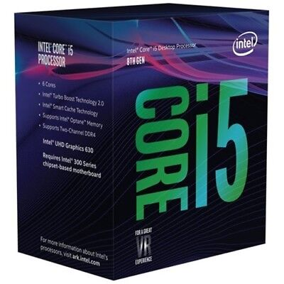 NEW Boxed Intel Core i5-8400 Coffee Lake 6-Core 2.8GHz LGA1151 Desktop Processor