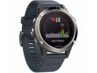 Garmin Fenix 5 Silver - new. Best HR GPS smartwatch. 12-20 days of battery life