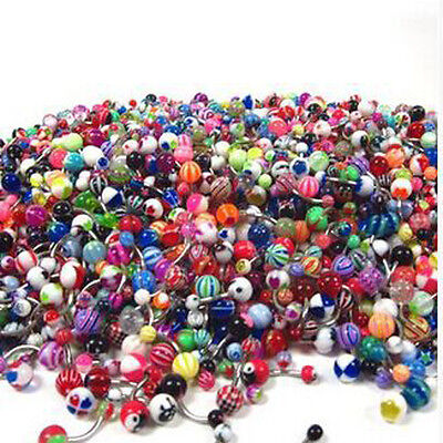 Popular 110Pcs Wholesale Belly Button Navel Rings Barbell Body Piercing Jewelry