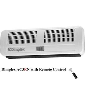 Fan heater air curtain electric DIMPLEX AC3RN 3kW over door wall heating cooler