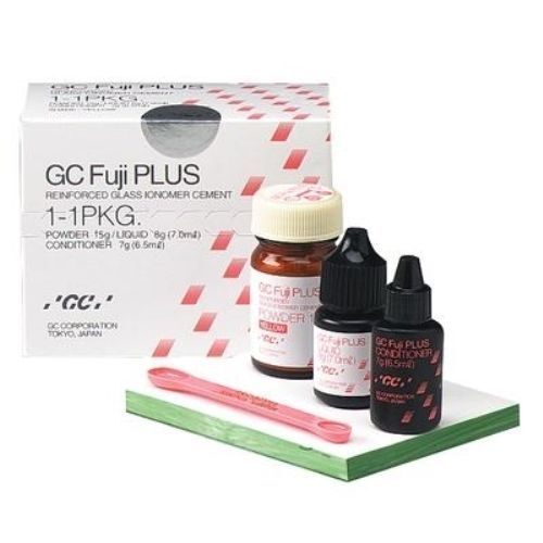 DENTAL GC FUJI PLUS RESIN MODIFIED CEMENT 1-1 PACK & CONDITIONER