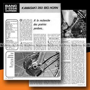 KAWASAKI 350 BIG HORN 1972 Essai Moto / Original Road Test #b9 - France - État : Trs bon état: Livre qui ne semble pas neuf, ayant déj été lu, mais qui est toujours en excellent état. La couverture ne présente aucun dommage apparent. Pour les couvertures rigides, la jaquette (si applicable) est incluse. Aucune p - France