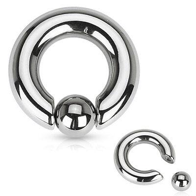 - Pair 316L Surgical Steel Captive Bead Rings CBR Earrings