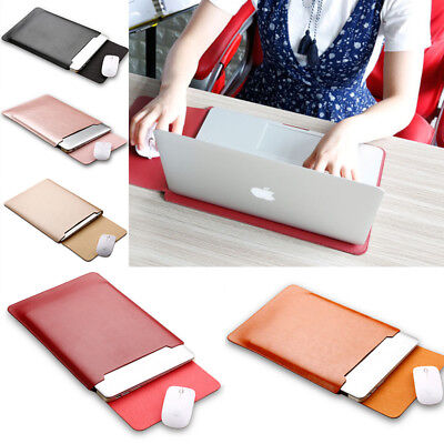 PU Leather Laptop Sleeve Bag Case Cover For MacBook Air/Pro