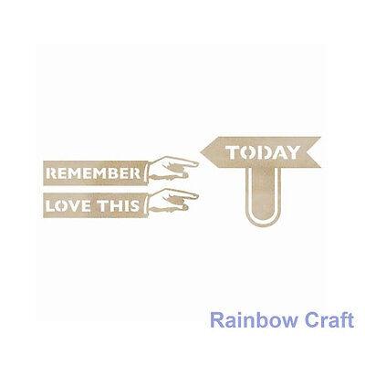 Kaisercraft Wooden Embellishments flourish Pack 18 wording / patterns U select - Today