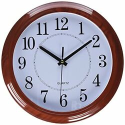 Decorative Wall Clock Non-Ticking Round Classic Silent Clock 13 Large Numbers