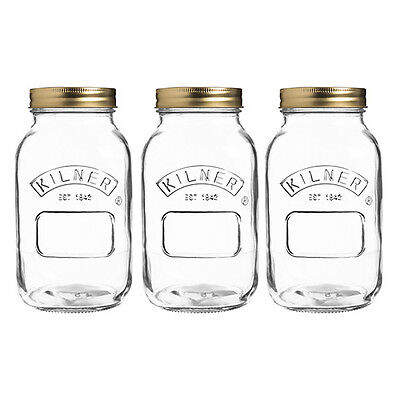 Kilner Preserve Jar 1 Litre Set Of 3