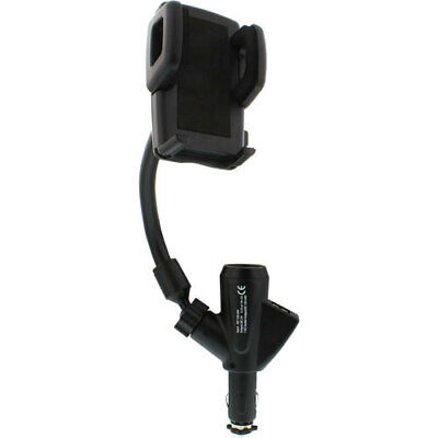 InLine® Smartphone / Handy Halterung mit Schwanenhals und USB, universal