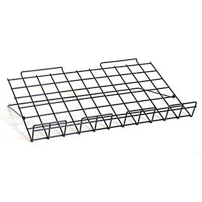 Adjustable Wire Slatwall Shelf In Black 23-34w X 14d - 4 Pc