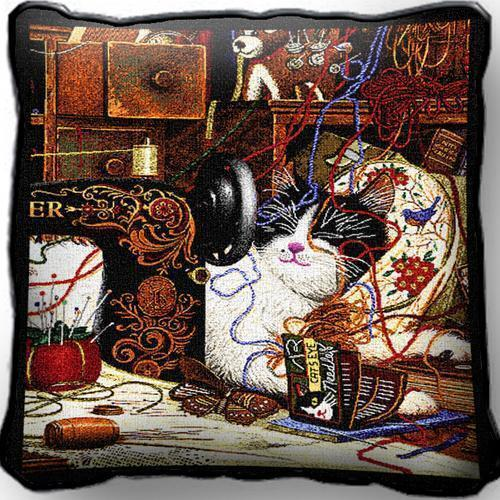 """17"""" x 17"""" Pillow Cover - Maggie the Messmaker 976"""