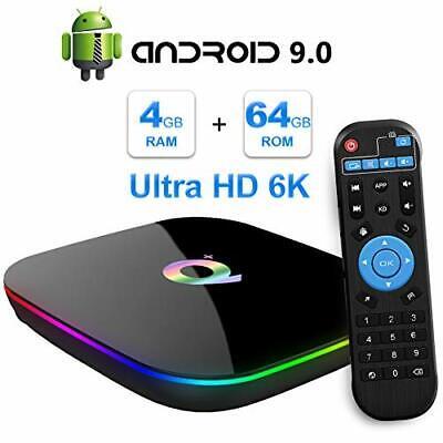 TUREWELL Android 9.0 TV Box, Q Plus Android TV Box Quad Core H6 4GB RAM 64GB