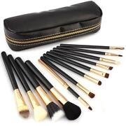 Black Make Up Brush Set